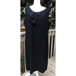 Talbots Woman Black Sheath Dress